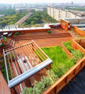 Крыша в эко-стиле в Новосибирске от RAMDA