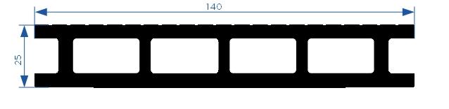 Размеры террасной доски дпк Эконом