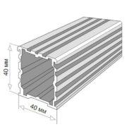 Лага алюминиевая Level LINE FRAME 40x40x4000 от RAMDA.RU
