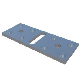 Пластина алюминиевая крепежная регулируемая Level Plate Bind