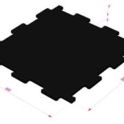 Модульная резиновая плитка ТАБУЛАТ-10 от RAMDA.RU