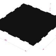 Модульная резинвая плитка ТАБУЛАТ от RAMDA.RU
